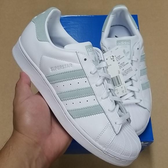 Adidas Superstar Vapor Green Stripes